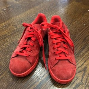 ALL Red Adidas Stan Smiths